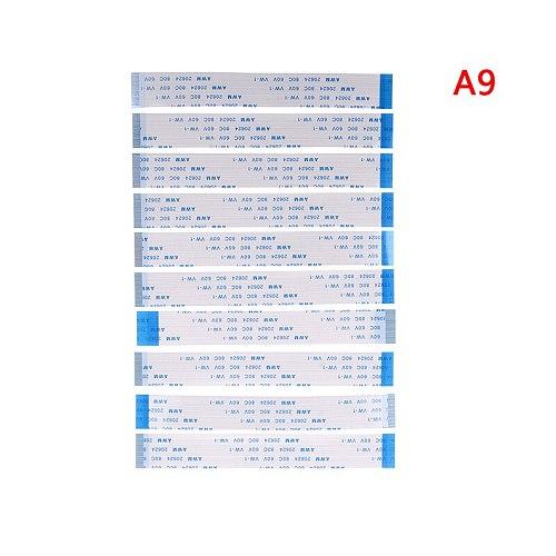 10PCS FPC Ribbon Flexible Flat CABLE PITCH 0.5MM 100MM A-Type 4P 6P 8P 10P 12P 16P 20P 30P 40P FFC WIRE 6/10/12/16/20/30/40 pin