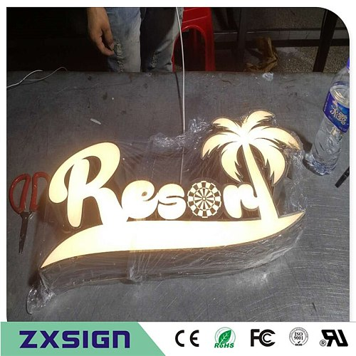 Custom Outdoor advertising front lit Acrylic led sign making custom  logo, business sign channel letters