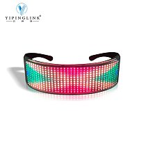 USB charging luminous LED glasses with full color bluetooth scrolling LED moving sign interesting glow LED gift for friends
