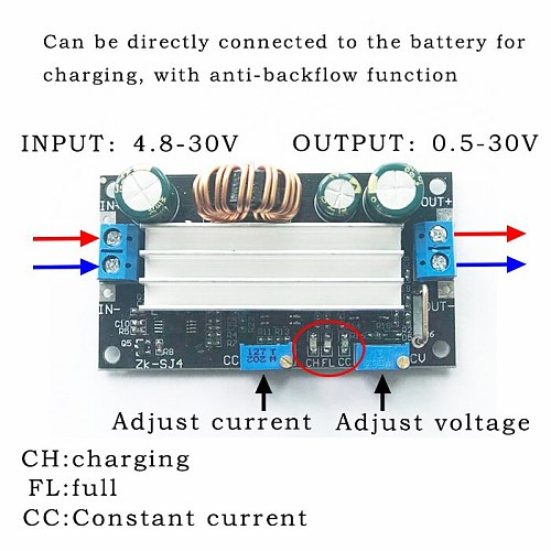DC DC Automatic Boost/Buck Converter CC CV Power Module 4.8-30V Solar Charger Charging Controller
