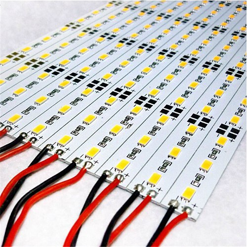 100pcs DC12V slim 6500k 50cm/pc SMD 5630 5730 rigid led bar light bead strip wall bare board use of showcase