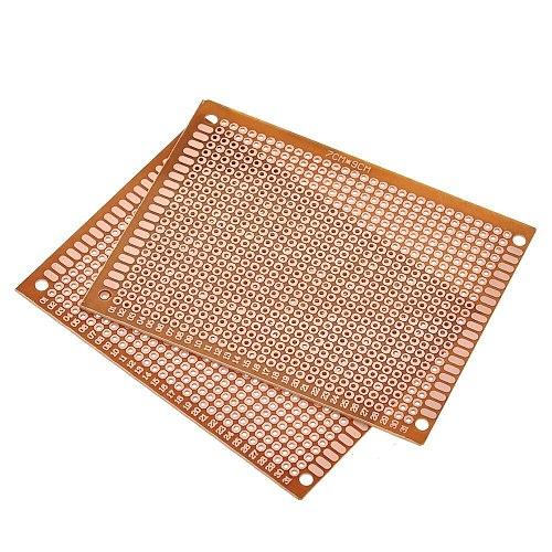 7x9 7*9cm Single Side Prototype PCB Breadboard Universal Board Experimental Bakelite Copper Plate Circuirt Board Yellow