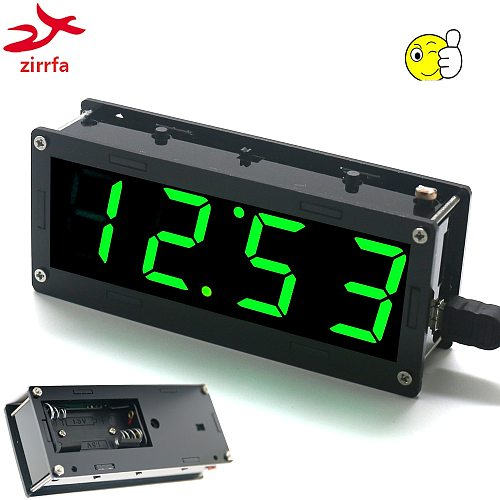 Electronic DIY Kit High precision DS3231 1 inch digital tube Clock Kit  4-digit Display with Case Diy Kit Electronic