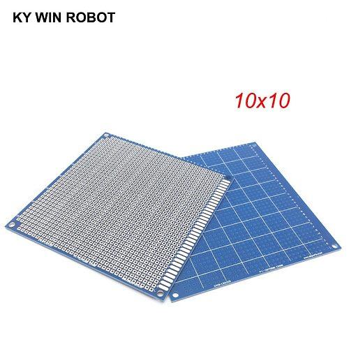 1pcs 10x10cm 100x100 mm Blue Single Side Prototype PCB Universal Printed Circuit Board Protoboard For Arduino