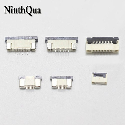 5pcs 0.5MM / 1.0mm 6P Clamshell Drawer Up Down FPC Connector socket for 6Pin Type A B FFC Cable