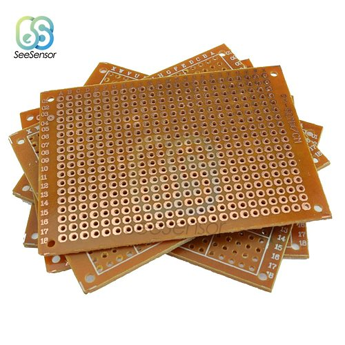 10Pcs Single Sided Universal PCB Board 50x70 mm 2.54mm Hole Pitch DIY Prototype Paper Printed Circuit Board Panel 5x7 cm