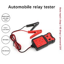 12V Car Battery Checker Electronic Relay Tester with Clips Auto Relay Diagnostic Instrument Automotive Relays Test Tool