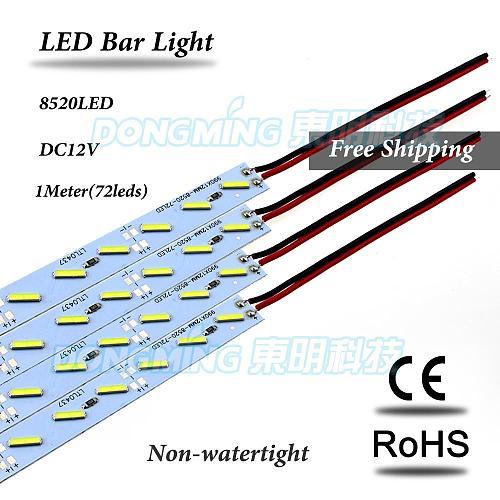35pcs 1m Hard luces led Bar light 12V 100cm 72 led SMD 7020 Aluminum PCB Led Strip light For Cabinet