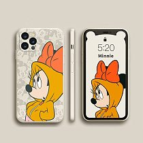 Disney Cartoon Minnie Mouse iPhone Case For 7 8 11 12 Pro MAX XR XS SE Soft Silicone Phone Cover for iPhone Smart Phone