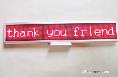 21 x4  Red Programmable LED Moving Scrolling Message Display Sign Indoor Board