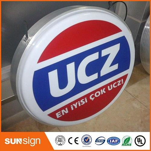 custom advertisement sign boards LED light box advertising