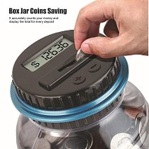 Electronic Digital Lcd Counting Coin Money Saving Box Jar Piggy Bank Counter Coins Storage Box For Usd Euro Money Supplies #T2G