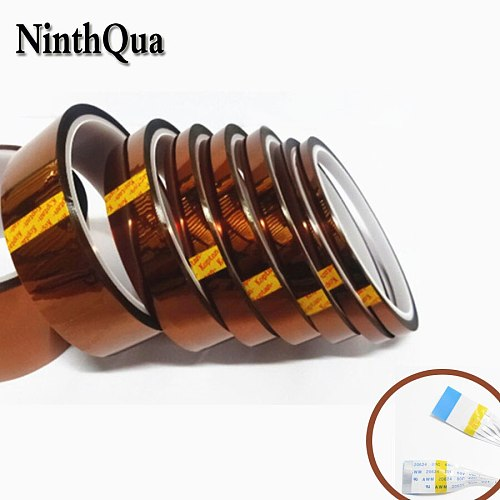 1pcs 10m Golden finger Brown high temperature adhesive tape polyimide heat resistant transfer printing FFC FPC cable