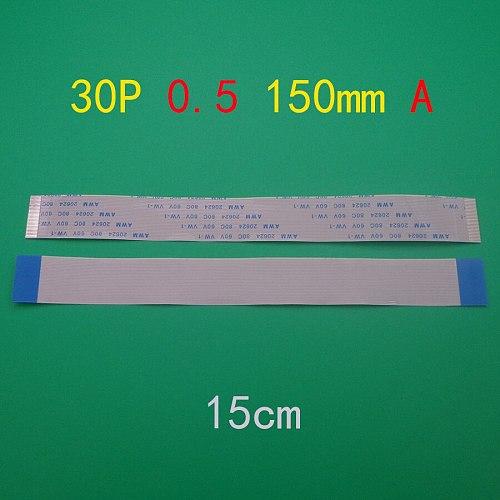 10pcs 30pin FFC FPC flat line flexible cable 0.5mm pitch 30 pin A Forward Length 150mm Ribbon Flex Cable AWM 20624 80C 60V VW-1