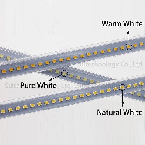 LED Bar Light AC220v High Bright Aluminum Alloy PCB Tube LED Rigid Strip With PVC Cover 10 30 40 50cm LED Fluorescent Tube Light