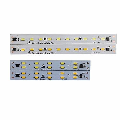 10pcs LED Light Bar Led PCB Light Source Rigid Strip Driverless AC220V for T5 T8 Tube 5w 6w 10w 180-260V SMD5730 Warm White JQ