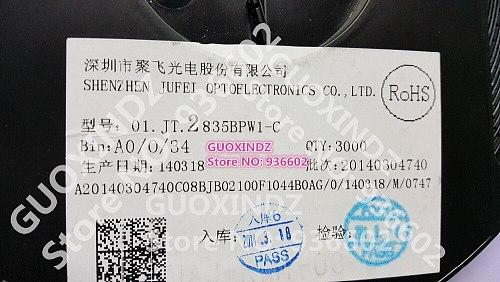 JUFEI   LED   Backlight  1210  3528  2835  1W   84LM  Cool white  LCD  Backlight for  TV   TV  Application   01.JT.2835BPW1-C