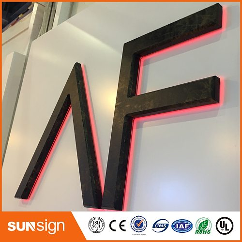 Backlit house Number sign stainless steel signage letters LED 3D illuminated letters signs for Advertising customized