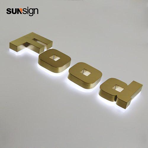 waterproof led alphabet letter sign LED 3d light signage led halo lit letters for advertising signs
