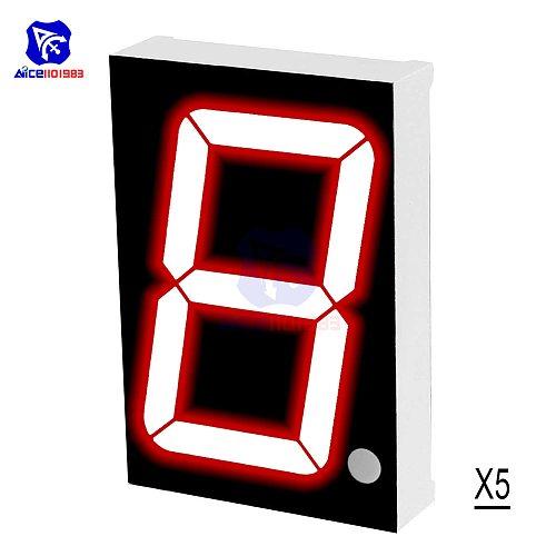 5PCS/Lot LED Module Common Cathode 10 Pin 1 Bit 7 Segment 2.2 x 1.5 x 0.43 Inch 1.8  Red LED Display Digital Tube