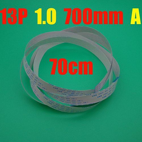 10pcs New FFC FPC flat flexible cable 13p 1.0mm pitch 13 pin Forward Length 700mm Ribbon Flex 13pin AWM 20624 80C 60V VW-1