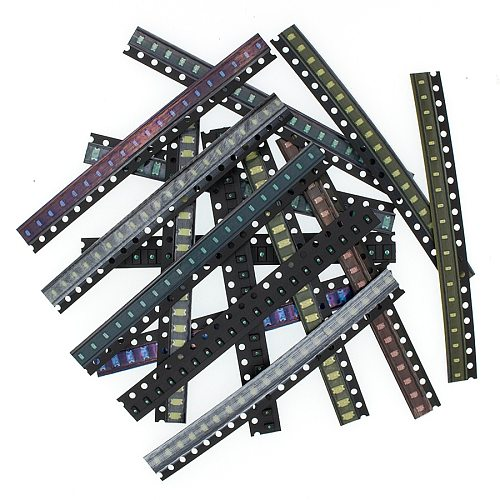 5 x 20pcs/Color=100pcs 1206 0805 0603 Red/Green/Blue/White/Yellow SMD LED kit Electronic components