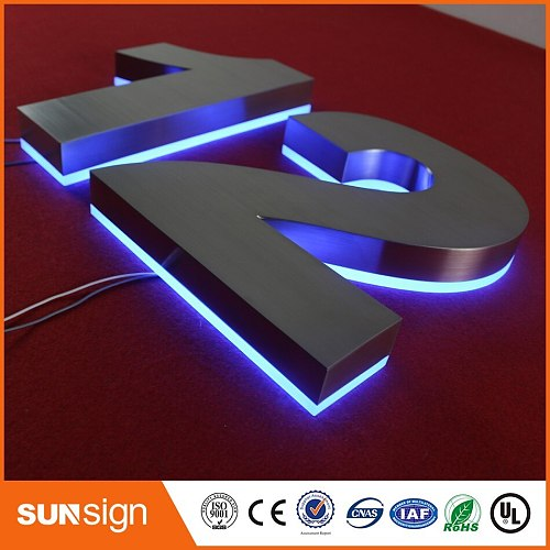H 35cm Custom outdoor advertising signage LED light letters 3d sign letters