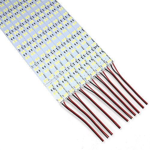 SZYOUMY Double Row 144 LEDS SMD 5730 Led Bar Rigid Strip Light 100cm 12V Cabinet Light Cold White 12mm PCB Free Shipping