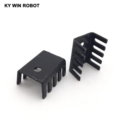 10PCS black 15*10*20MM Triode Heat Sink 10*15*20MM TO-220 TO220 Transistor Aluminum Radiator Heat Sink Cooler Cooling 20*15*10MM