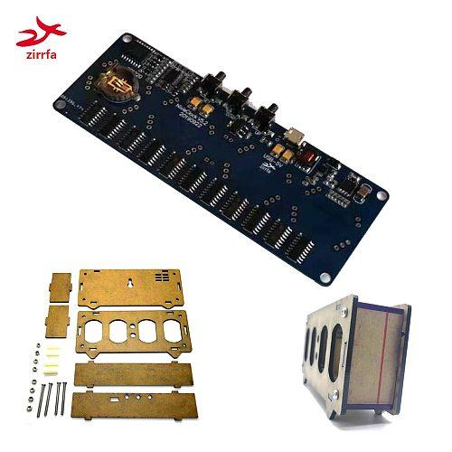 zirrfa  Electronic DIY kit in12 Nixie Tube digital LED clock gift circuit board PCBA with Acrylic , No tubes