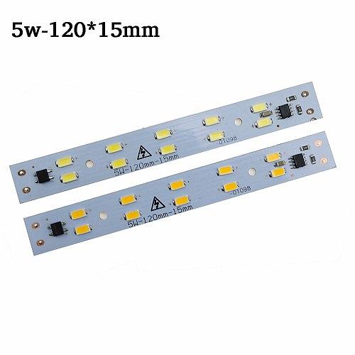 10pcs AC220v LED Light Bar rigid Strip Driverless for T5 T8 Tube, 5w 6w 10w 180-260v SMD5730 led pcb Light Source High Brightnes