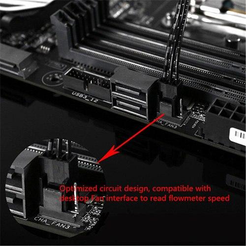 Barrow  Water Cooling System Electronic Data Type Flow Sensor Indicator 3Pin ( Electronic data type ) SLF-V3