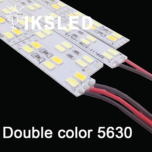 3/5/10/15pcs 0.5m 5630 led Bar Light Hard Rigid strip Double Row Non waterproof 50cm 12V 12mm PCB  with aluminum and cover