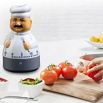 Cute Chef Shape Alarm Clock Electronic Timer Cooking Baking Tool Household Kitchen Timers Home Decoration