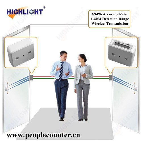 Highlight HPC005 LCD display In-out data network electronic people counter system