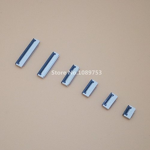 50pcs Clamshell Bottom Contact Type 0.5mm Filp Down FFC FPC Connector 6/8/10/12/14/16/20/24/30/40 Pin