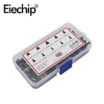 200pcs/lot 10 value Mini Button Switch kit 6*6 rice cooker / telephone / PCB board maintenance use 6x6x4.3 Keys Switch