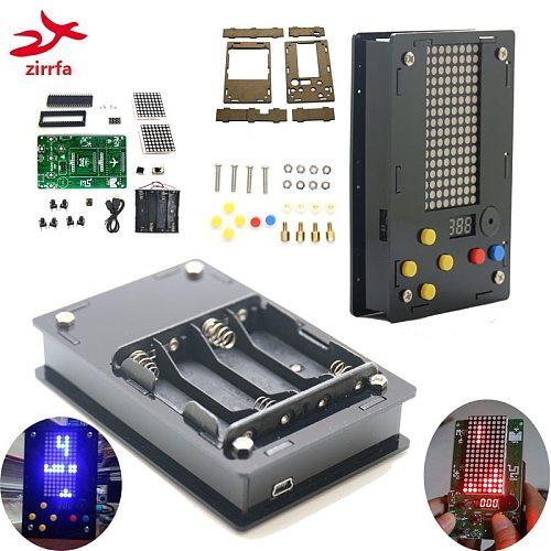 Electronic DIY Kit 8x16 Dot matrix game machine with Acrylic Diy Kit Electronic