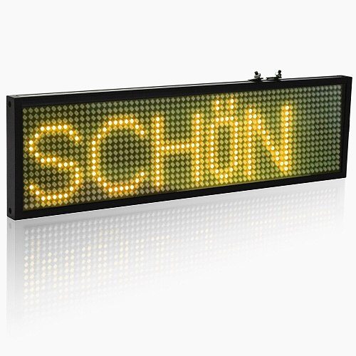 34cm SMD P5 LED Message Sign Android mobile WiFi Programmable scrolling information store bar Yellow LED display board