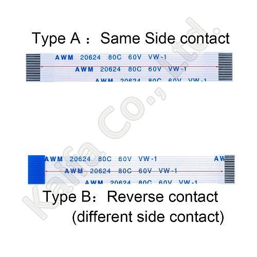10PCS 4P Line length 6CM 10CM 15CM 20CM 25CM 30CM Flat Flexible Cable FFC FPC LCD Cable AWM 20624 80C 60V VW-1 Pitch 0.5 1.0MM