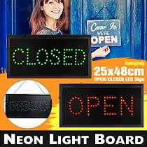 LED Sign Lights Store OPEN CLOSED Light LED Neon Blinking Lamp For Business Shop Bar Club Lighting Board Hanging Lights