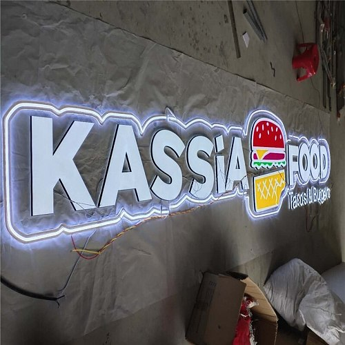 Factory Outlet  high quality acrylic shop sign, custom made led lettering signs for reception, double sided lighting LED letters