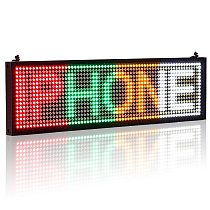 P5 SMD LED Display Panel WiFi Programmable Scroll Message Shop Window Advertising LED Sign Business, R/G/Y/W Fixed Position