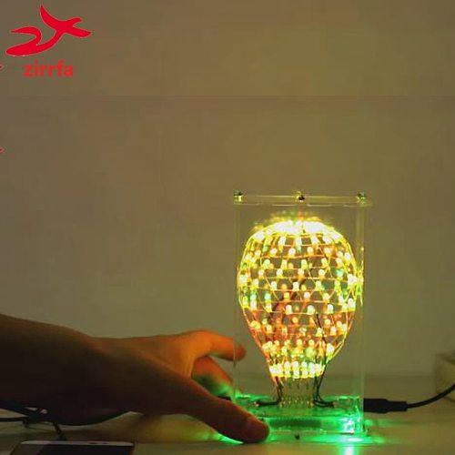 Electronic DIY Kit Colarful LED Cubic Ball 3D LED Suite Smart Electronics Led Cubeeds Kit DIY Electronic