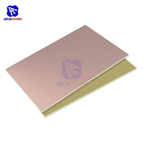 diymore 10x15cm Single Sided PCB Prototyping Board Copper Clad Laminate PCB Printed Circuit Board FR4