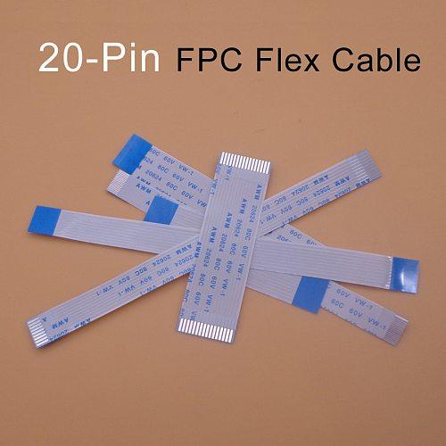 2pcs FFC/FPC Flat Flex Cable 20 Pin Type A/B 0.5mm 1.25mm Pitch AWM VW-1 20624 80C 60V Length 75 100 200 250 300 350 400mm