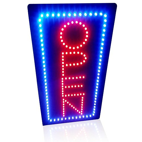 Pretty Cool Handmade Neon Open Sign Animated Motion Led Board Red Blue Static Flashing with ON/OFF for Holiday Beauty