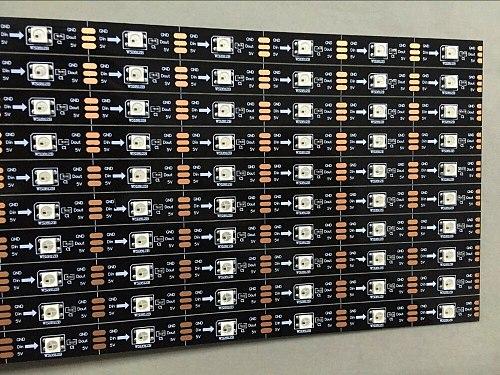 10pcs/lot BLACK PCB 0.5m long WS2812B 16LEDs led RIGID bar light,DC5V input;non-waterproof