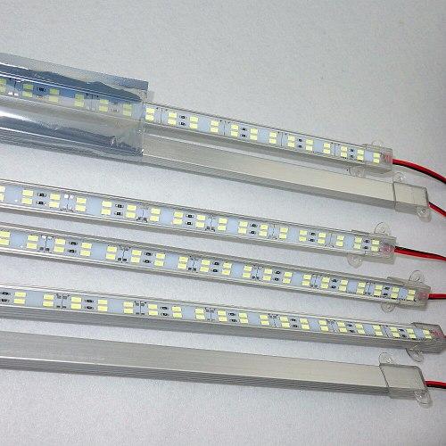 1M long DC12V 5730 Double Row Led alu Rigid bar;144Leds/m 12mm PCB; IP68 waterproof;18W/M