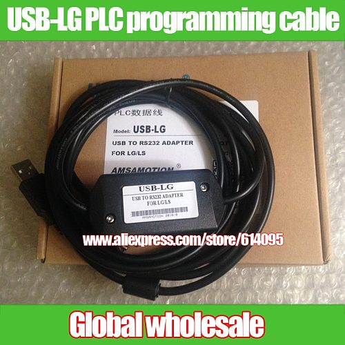 1pcs USB-LG PLC programming cable for LG / USB TO RS232 ADAPTER FOR LG support WIN7 USB-LS Electronic Data Systems